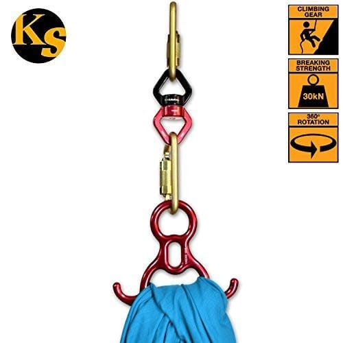 Kwiksafety Explorer Aluminium 360° Swivel Connector W/ Aluminum Carabiners - 50 Pieces