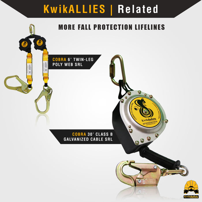 KwikSafety TSUNAMI Vertical Lifeline Assembly ANSI OSHA Roofing Fall Protection - Model No.: KS7710, KS7711, KS7712, KS7713 - KwikSafety