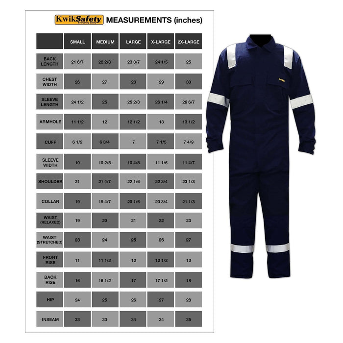 Kwiksafety Class 3 Reflective Multi-Purpose Construction Coveralls S Home Improvement