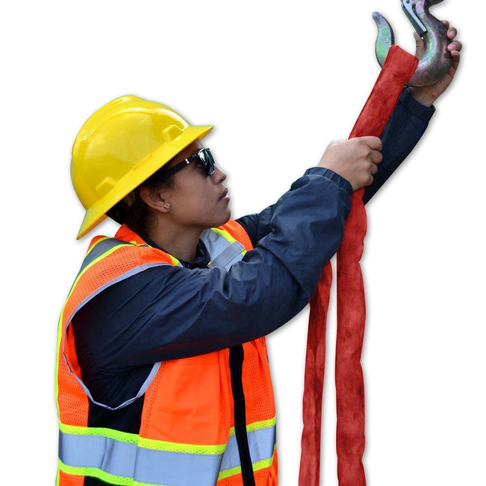 Kwiksafety High Tensile Endless Polyester Lifting Sling 3 X 6 (14000 Lbs) / Red Biss