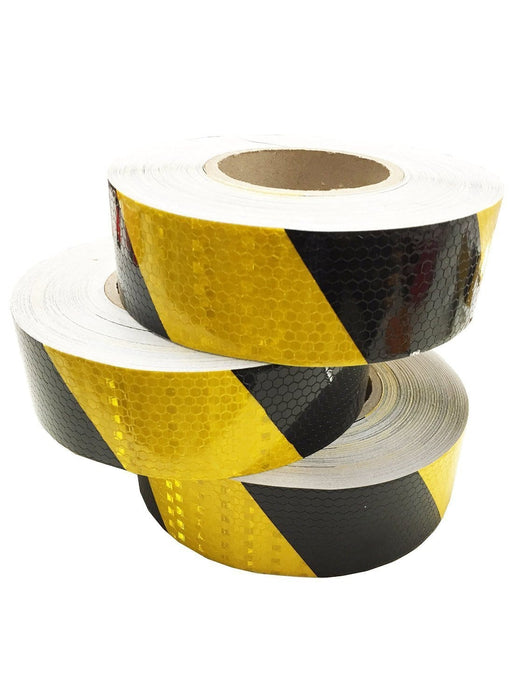 Kwiksafety 2X150Ft Stripe Industrial Honeycomb Reflective Tape Black/yellow Home Improvement