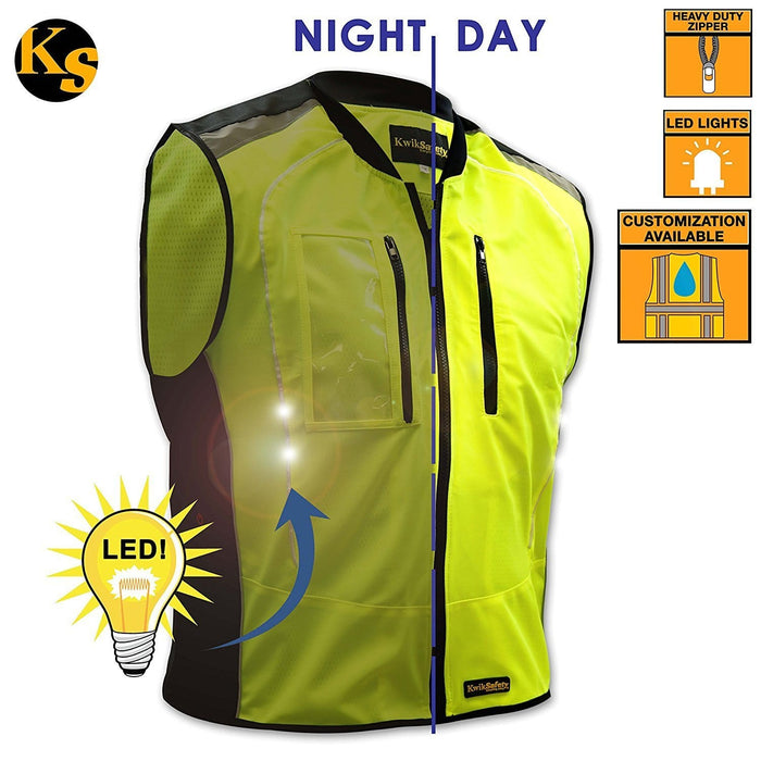 ZOOM | LED Motorcycle & Cycling Vest - Model No.: KS3320 - KwikSafety