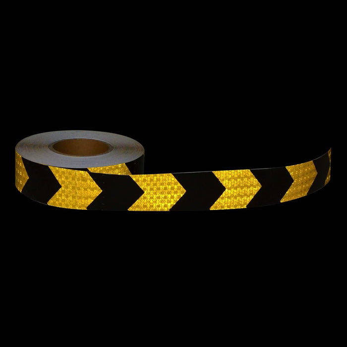 Kwiksafety 2 X 150Ft Arrow Industrial Honeycomb Reflective Tape Lime/red Home Improvement