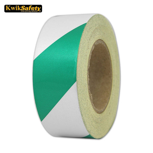 Kwiksafety 2 X 150 Ft Stripe Design Engineering Grade Tape Green/white Home Improvement