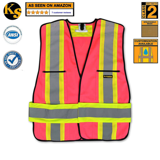 Kwiksafety Hi Vis Reflective Breakaway Pink Safety Vest Extra Large Home Improvement