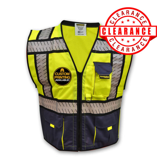 CLEARANCE! KwikSafety SHERIFF | ANSI Class 2 Fishbone Safety Vest (Old Sizing) - Model No.: KS3305 - KwikSafety