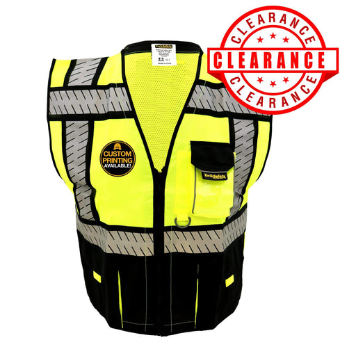 CLEARANCE! KwikSafety SPECIALIST | ANSI Class 2 Fishbone Safety Vest (Old Sizing) - Model No.: KS3304 - KwikSafety