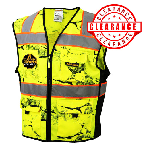 CLEARANCE! KwikSafety UNCLE WILLY'S WALL High Visibility Reflective ANSI Class 2 Safety Vest - Model No.: KS3325 - KwikSafety