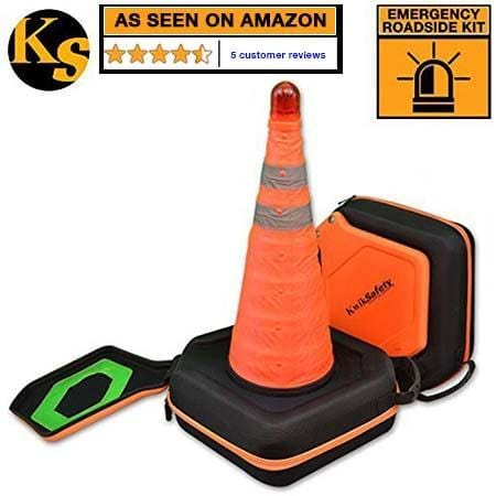 KwikSafety Collapsible Traffic Emergency Roadside Cone Kit by KwikSafety - KwikSafety