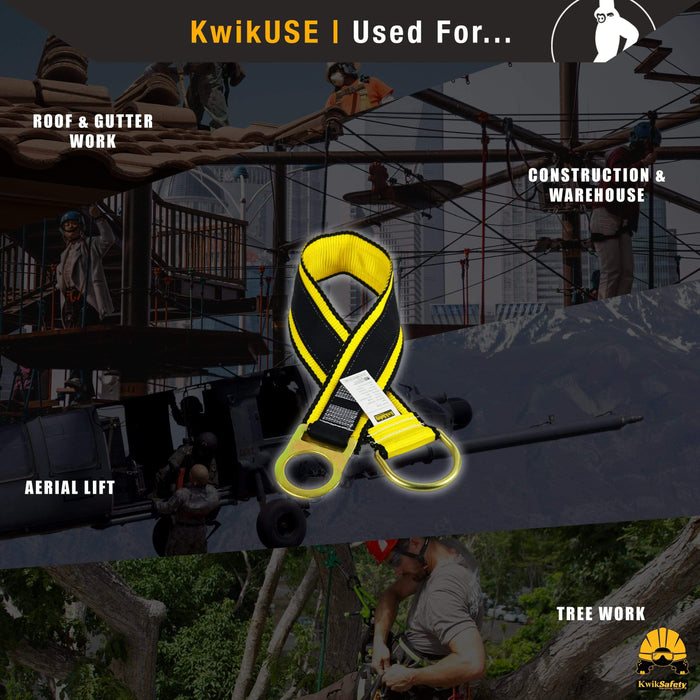 KwikSafety GIBBON GRIP 3 ft. Fall Protection Anchor Choker ANSI Cross Arm Strap - Model No.: KS7801 - KwikSafety