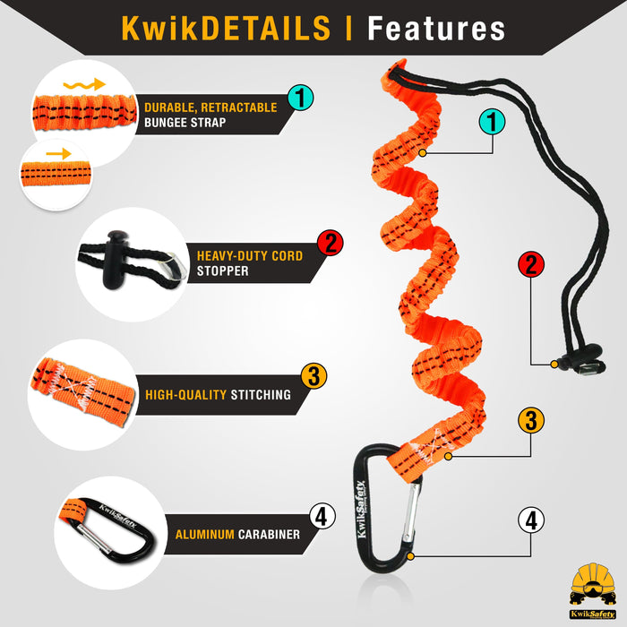 KwikSafety 1D Full Body Safety Harness Charlotte, NC 3/' Cross Arm Strap Anchor ANSI OSHA PPE Fall Protection Arrest Restraint Construction Roofer Bucket SCORPION COMBO 6/' Lanyard Attached