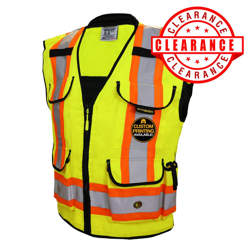 CLEARANCE! KwikSafety GODFATHER Hi Vis Reflective ANSI PPE Surveyor Class 2 Safety Vest - Model No.: KS3310 - KwikSafety