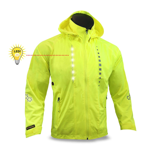 KwikSafety RACER Unisex LED Sportswear Windbreaker Safety Jacket - Model No.: KS5507 - KwikSafety