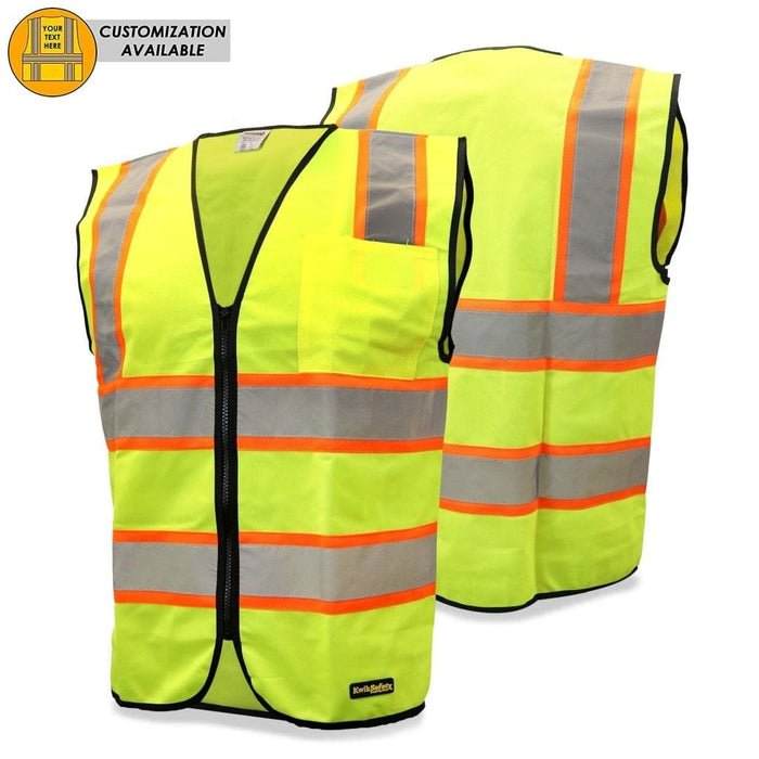 Kwiksafety Athlete Hi Vis Reflective Ansi Ppe Constrasting Class 2 Safety Vest Home Improvement