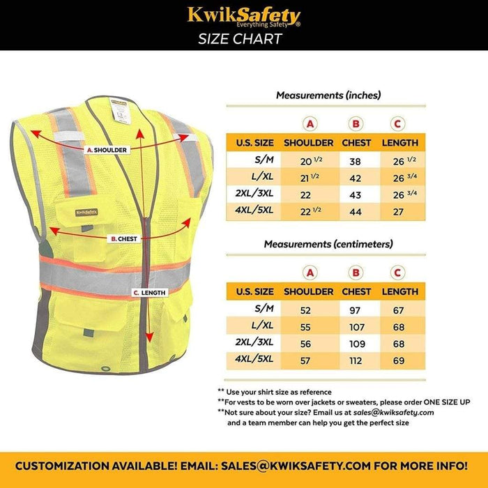 Held High Visibility Vest Motorcycle Safety Vest Black Neon Yellow Size XL
