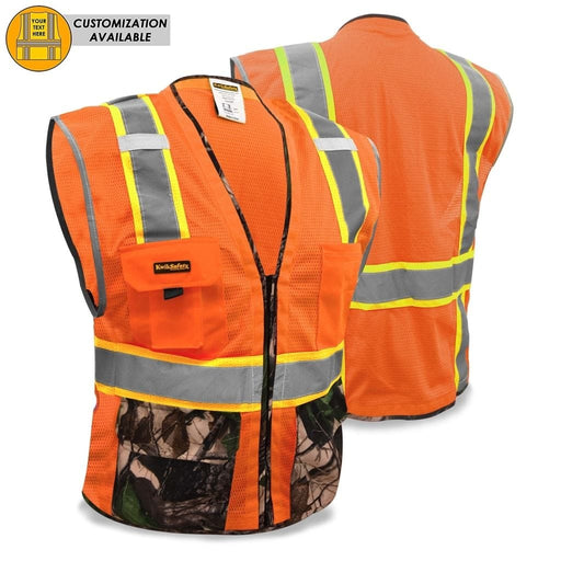 Kwiksafety Camouflage Hi Vis Reflective Ansi Ppe Surveyor Class 2 Safety Vest S/m