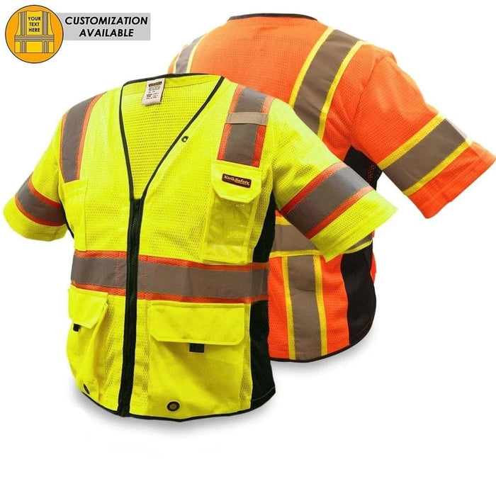 Kwiksafety Chief Hi Vis Reflective Ansi Ppe Surveyor Class 3 Safety Vest 2Xl/3Xl / Yellow Home