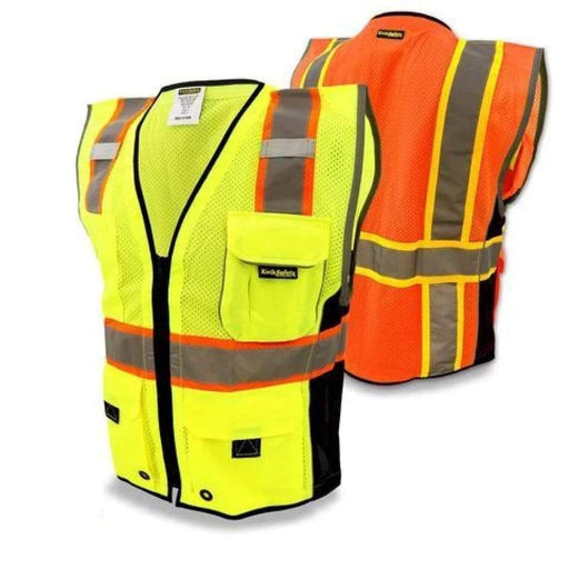 Kwiksafety Classic Hi Vis Reflective Ansi Ppe Surveyor Class 2 Safety Vest Home Improvement
