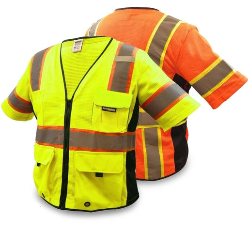 Kwiksafety Executive Hi Vis Reflective Ansi Ppe Surveyor Class 3 Safety Vest Home Improvement