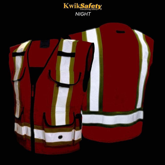 Kwiksafety Godfather Hi Vis Reflective Ansi Ppe Surveyor Class 2 Safety Vest Home Improvement
