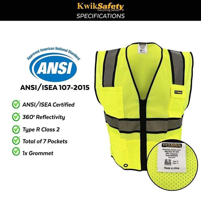Kwiksafety Official | Ansi Class 2 Ultra Cool Surveyors Safety Vest Home Improvement