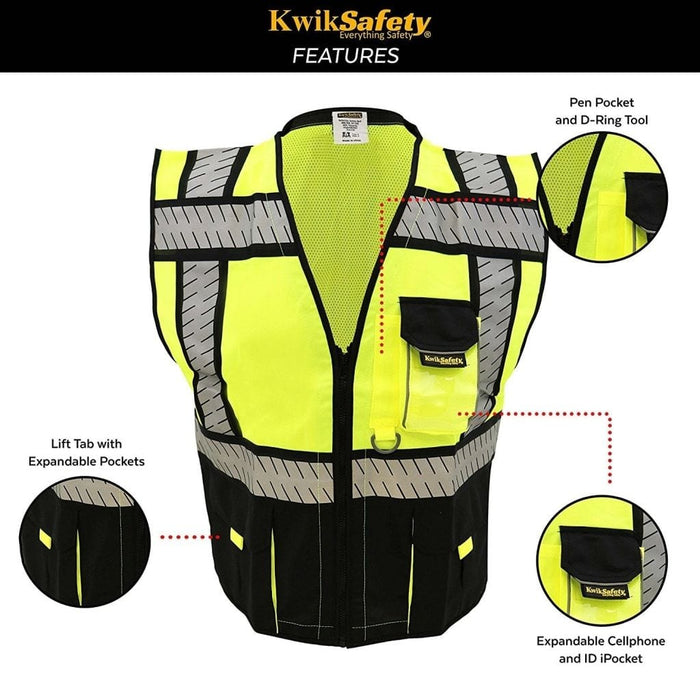 Kwiksafety Specialist | Ansi Class 2 Fishbone Safety Vest Home Improvement