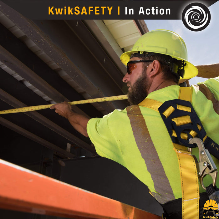 KwikSafety HURRICANE Safety Harness ANSI Fall Protection 3D Ring + Back Support - Model No.: KS6603 - KwikSafety