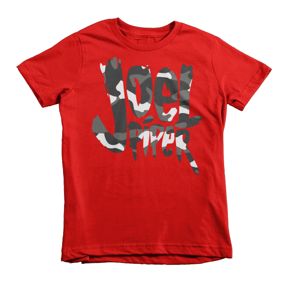 Joel Piper Snow Camo Logo Kid's Tee