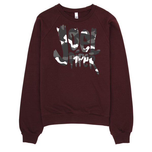 Joel Piper Snow Camo Logo Raglan Sweater