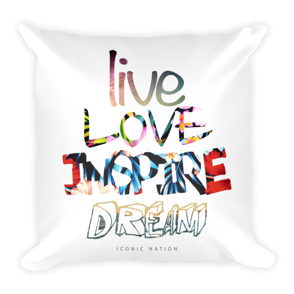 Live. Love. Inspire. Dream.® Tropical Space Pillow
