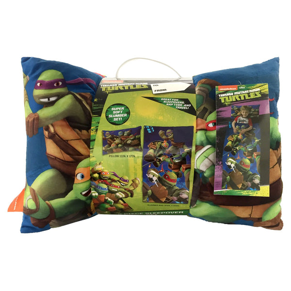 Nickelodeon Ninja Turtle Sleeping Bag and Pillow (Slumber Bag) 2 Piece Set