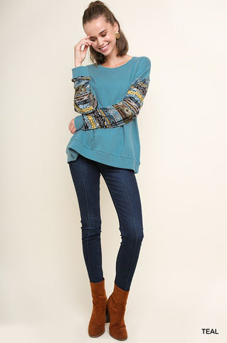 Aztec Print Pull Over - Sophie's Boutique