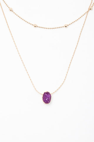 Druzy Layered Necklace - Sophie's Boutique