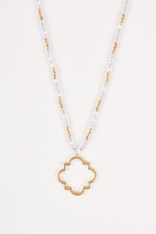 Beaded Clover Pendant Necklace - Sophie's Boutique