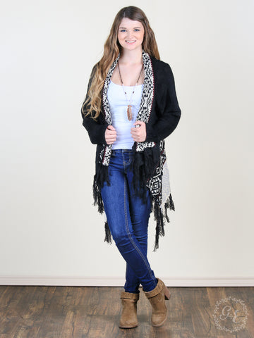 Cozy Cardigan with Tassel Fringe - Sophie's Boutique