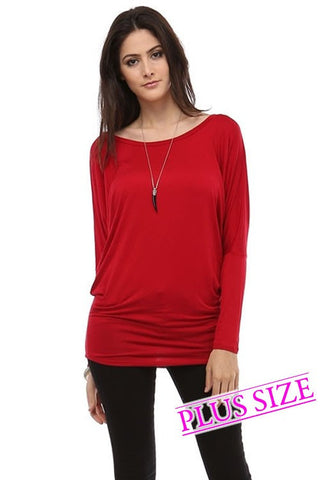 Dolman Sleeve Top Curvy - Sophie's Boutique