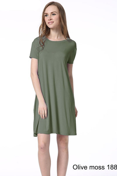 Short Sleeve Bamboo Dress - Sophie's Boutique