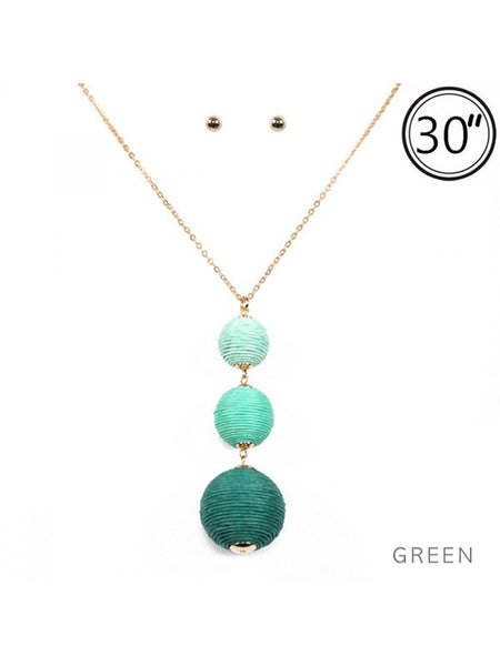 "30"" Tread Ball Necklace Set - Sophie's Boutique"