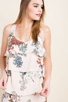 Sleeveless Floral Ruffle Top - Sophie's Boutique