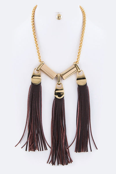 Jumbo Tassel Statement Necklace - Sophie's Boutique