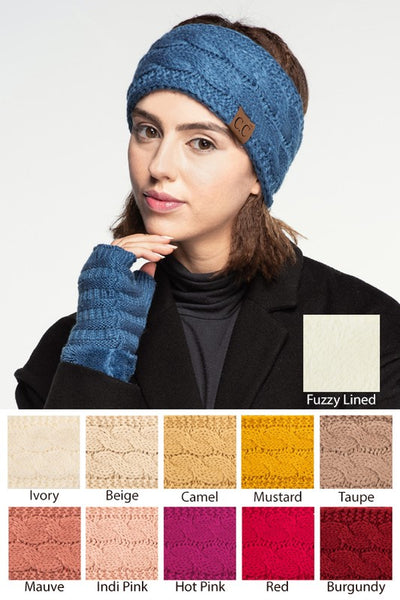 CC Sherpa Lined Head Wraps - Sophie's Boutique