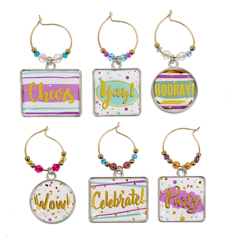 Yay! Wine Glass Charm Set - Sophie's Boutique