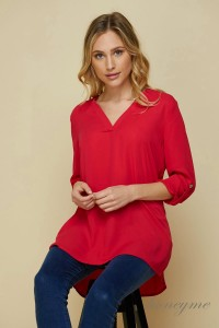 Dobby Vneck Tunic - Sophie's Boutique