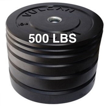 500LB Black Bumper Plate Set - Barbell Bros - Vulcan - CrossFit - Olympic Weightlifting - Canada