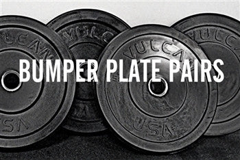 Black Bumper Plate Pairs - All Weights - Barbell Bros - Vulcan - CrossFit - Olympic Weightlifting - Canada