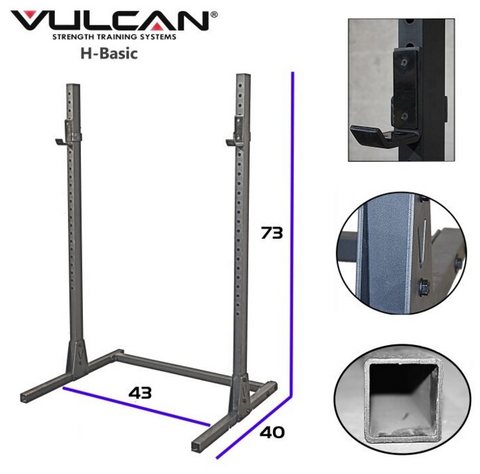 Vulcan H-Basic Squat Stand - Barbell Bros - Vulcan - CrossFit - Olympic Weightlifting - Canada - 1