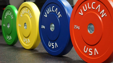 140KG Training Color Bumper Plate Set - Barbell Bros - Vulcan - CrossFit - Olympic Weightlifting - Canada