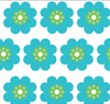 Yacht Club Shift - Pocket Full of Daisies Blue/Green