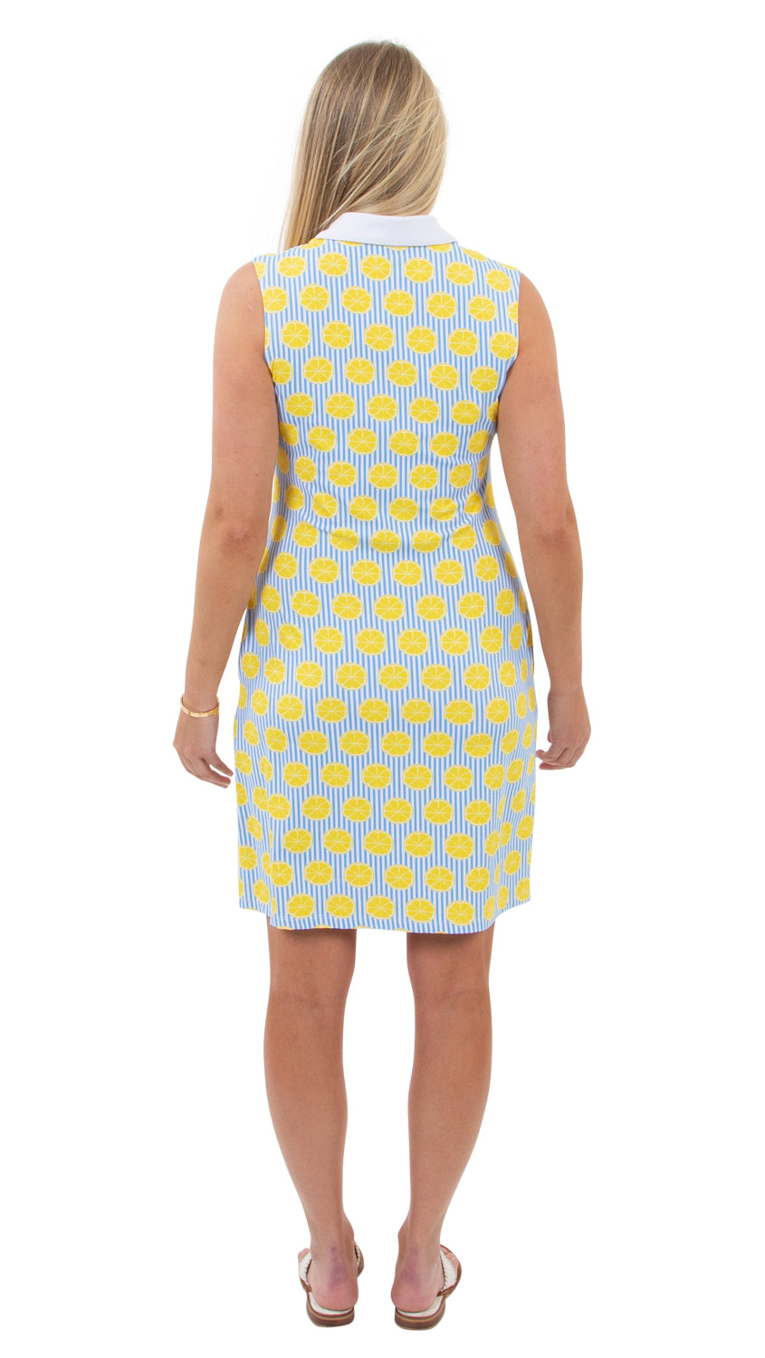 Port Sleeveless Dress - Summer Citrus-SAMPLE FINAL SALE