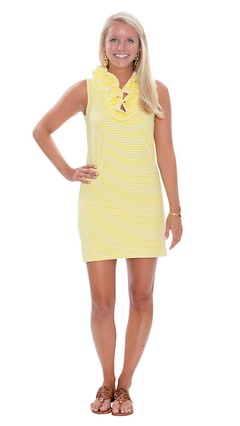 Skipper Dress - Yellow/White Stripes-FINAL SALE